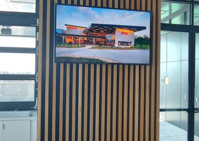 office decorative wood slat wall
