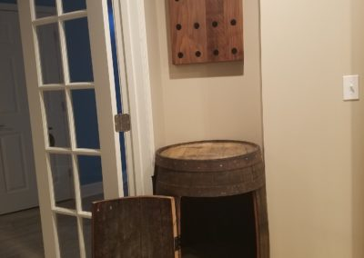 Barrel with Storage Wine Bottle Holder