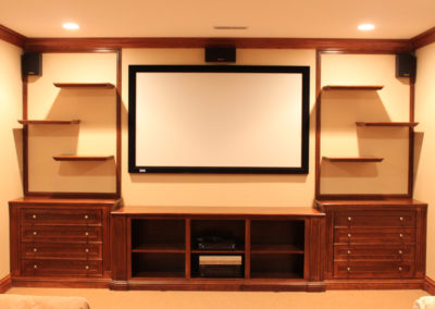 Built In Entertainment Center with Floating Shelves