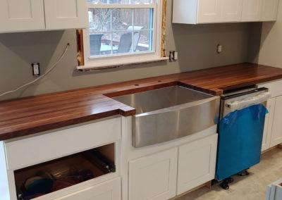 Counter top walnut edge grain butcher block