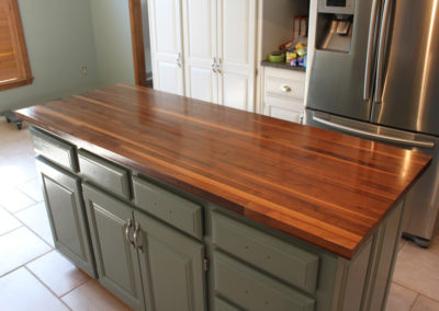 Island Top walnut edge grain butcher block 2