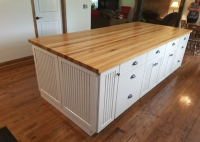 Island top Hickory edge grain butcher block