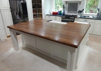 Island top Walnut edge grain butcher block 1