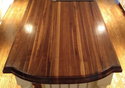 Island top walnut edge grain butcher block 6