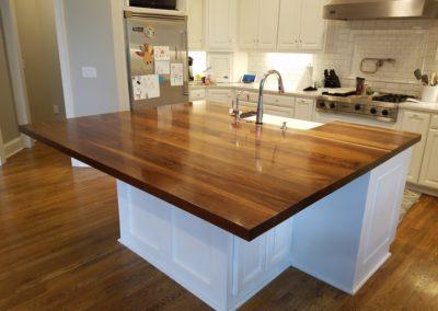Island top walnut face grain plank Style 5