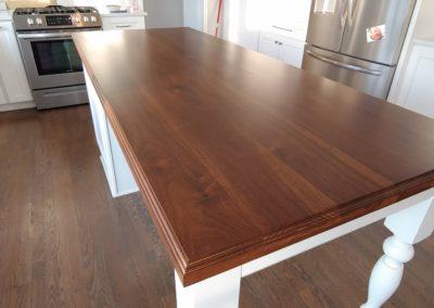 Island top walnut face grain plank style 2