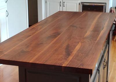 Island top walnut face grain plank style 7