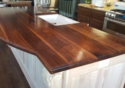 Island top walnut face grain plank style 8