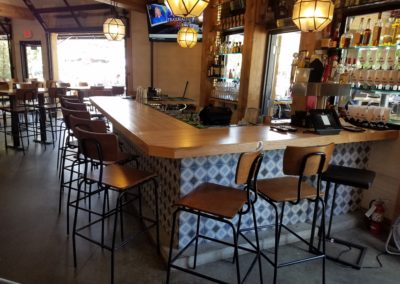 Resturant Bar Top Ash edge grain