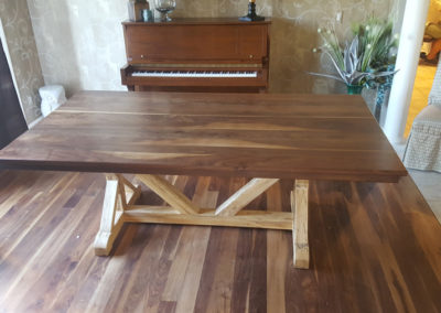 Walnut Dining Table with Maple LEgs