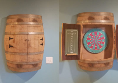 Wine Barrel Dart Board
