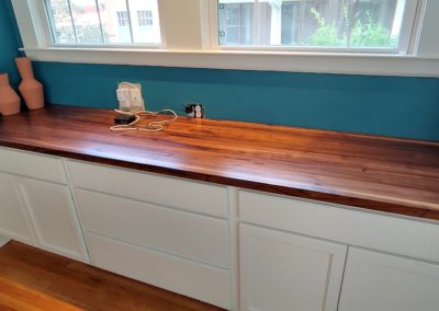 bar top walnut edge grain butcher block