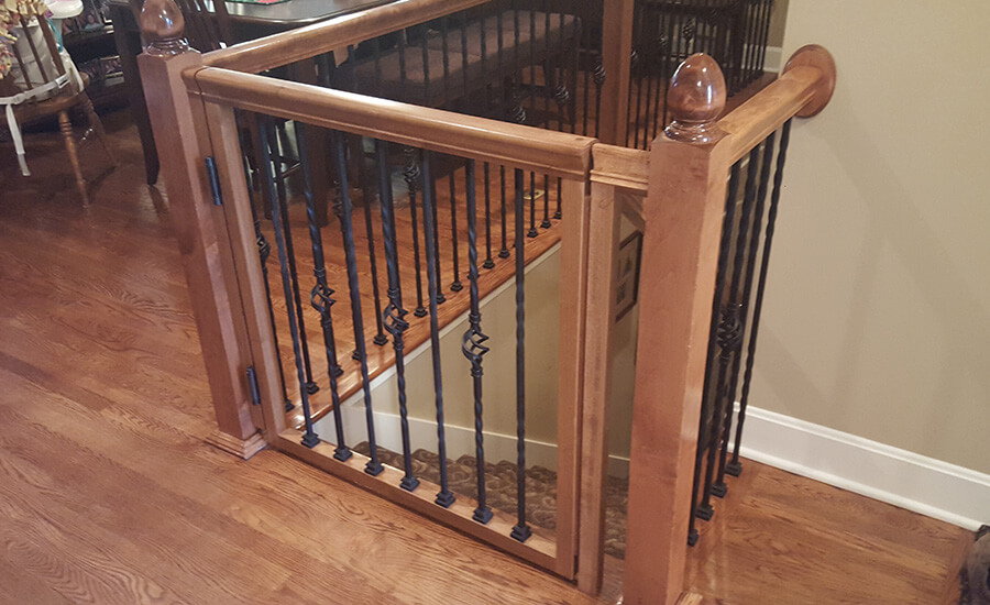 custom dog gates for stairs