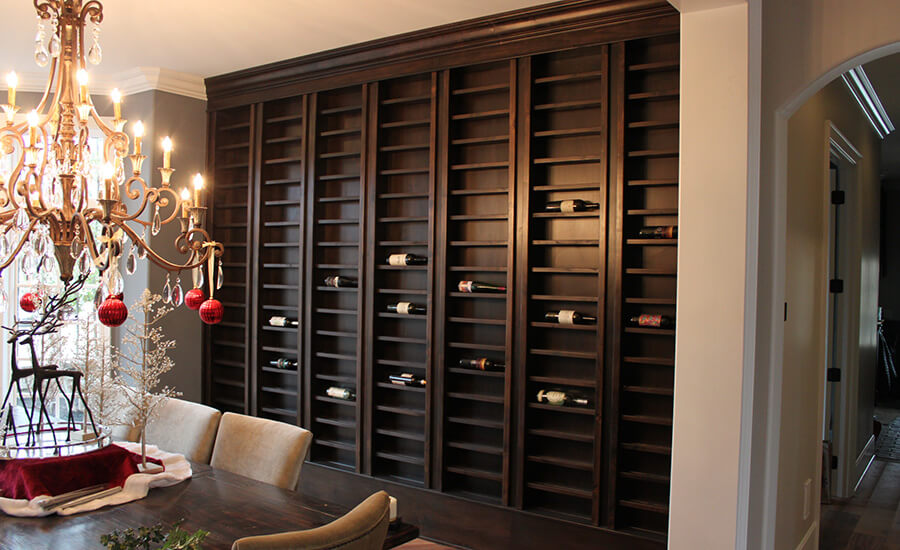 custom made cabinets for wine storage