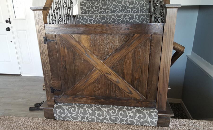 custom wood baby gates in kansas city