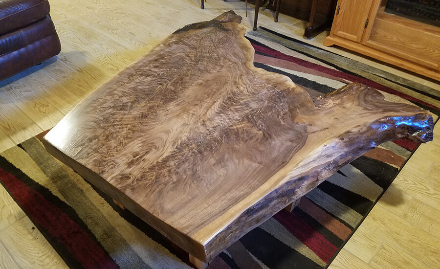 custom wood furniture coffee table