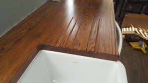 drainage channels for wood countertop