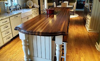 edge grain countertop construction style