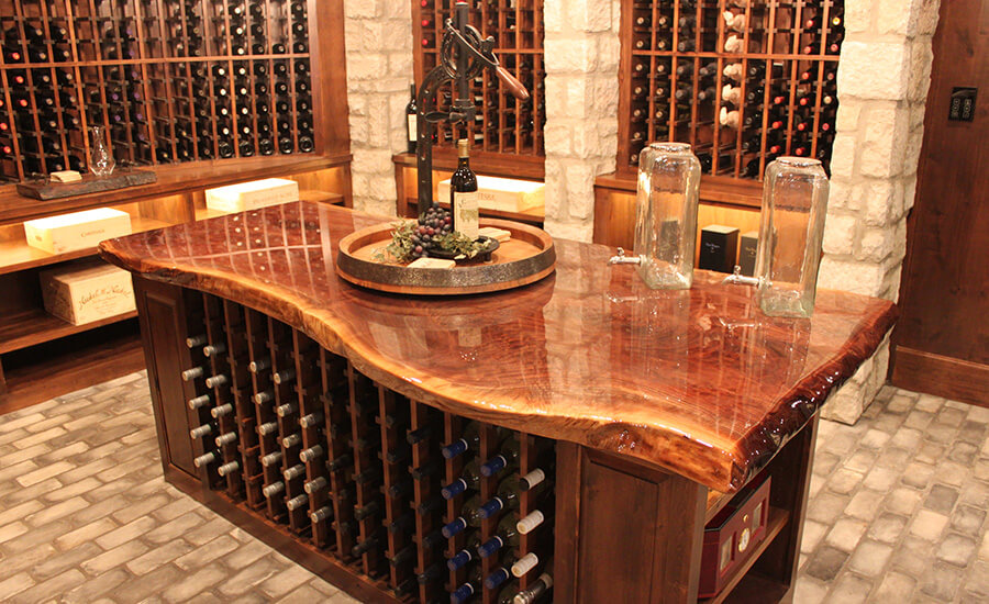 handmade wood wine cellar furniture