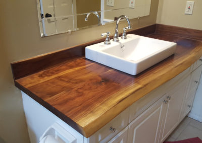 live edge walnut vanity top