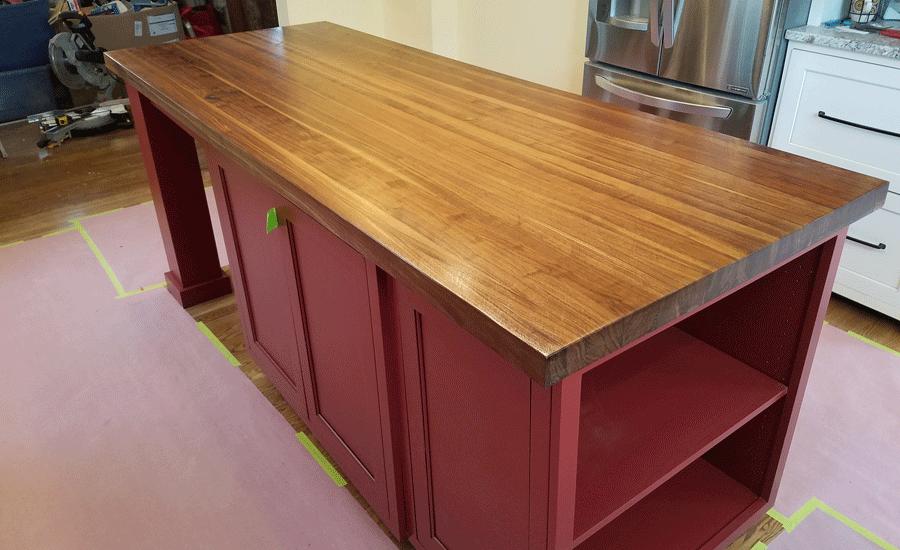 wood kitchen countertop